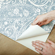 Paisley Prince Peel and Stick Wallpaper blue peel