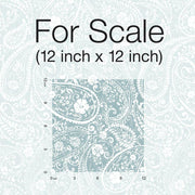 Paisley Prince Peel and Stick Wallpaper blue scale