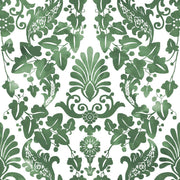 Vine Damask Peel and Stick Wallpaper green
