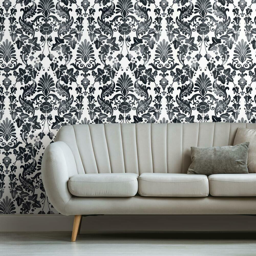 Vine Damask Peel And Stick Wallpaper Roommates Decor