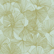 Gingko Leaves Peel and Stick Wallpaper gold