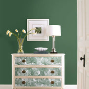Gingko Leaves Peel and Stick Wallpaper green roomset 4
