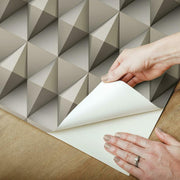Paragon Geometric Peel and Stick Wallpaper brown peel