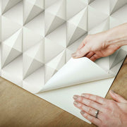 Paragon Geometric Peel and Stick Wallpaper taupe peel