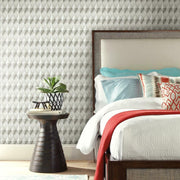 Paragon Geometric Peel and Stick Wallpaper taupe roomset