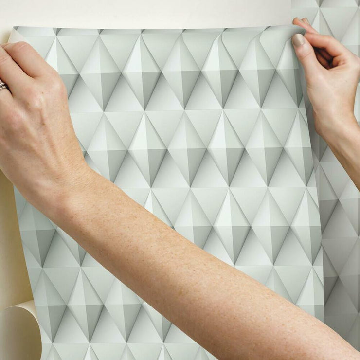 Paragon Geometric Peel and Stick Wallpaper taupe hang