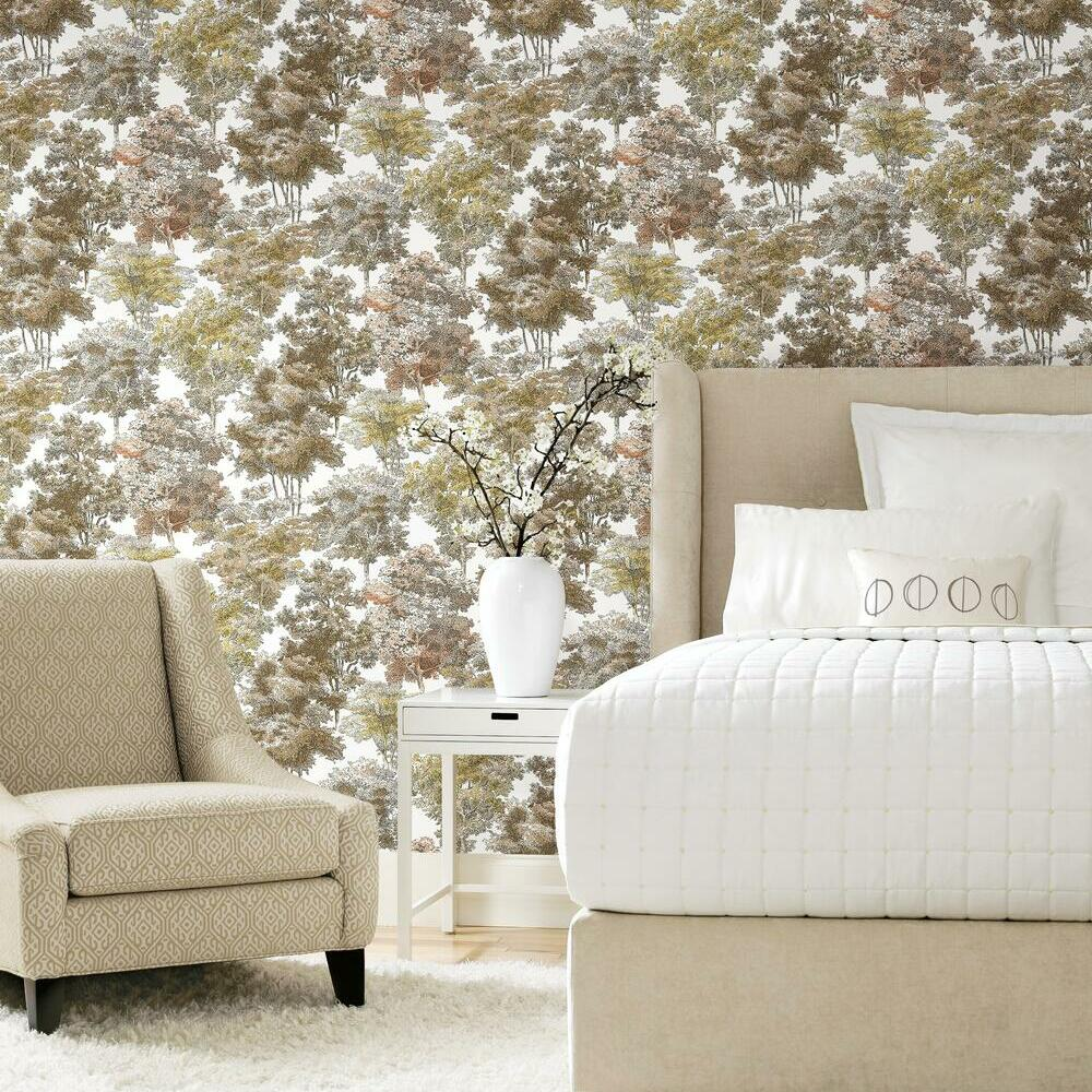 Old World Trees Peel And Stick Wallpaper Roommates Decor