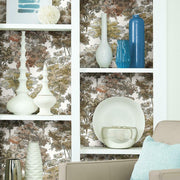 Old World Trees Peel and Stick Wallpaper yellow roomset