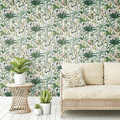 Tropical Eden Peel and Stick Wallpaper green roomset