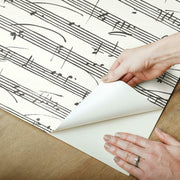 Melody Peel and Stick Wallpaper white peel