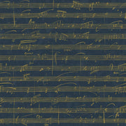 Melody Peel and Stick Wallpaper navy