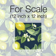 Lemon Zest Peel and Stick Wallpaper navy scale