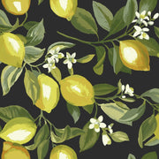 Lemon Zest Peel and Stick Wallpaper black