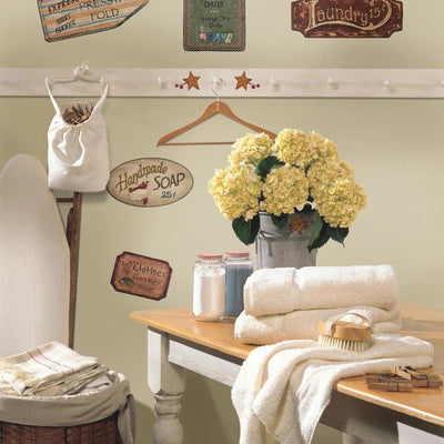 Country Signs Wall Decals roomset