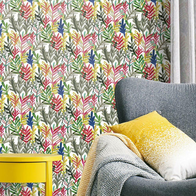 Vibrant Canvas Peel and Stick Wallpaper roomset