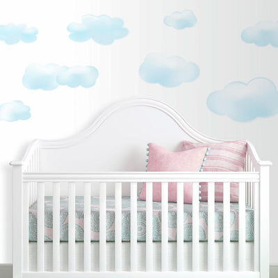 Blue Clouds Wall Decals roomsett 2