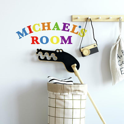 Colorful Alphabet Wall Decals roomset 2