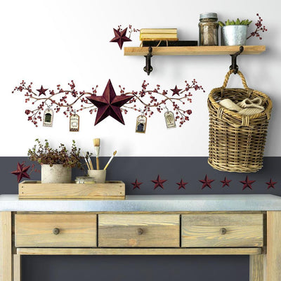 Country Stars & Berries Wall Decals roomset 3