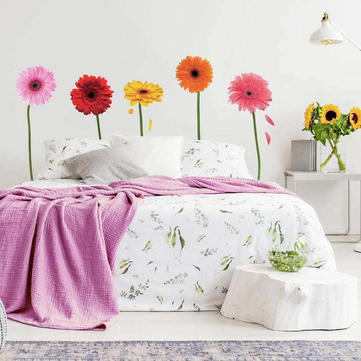 Gerber Daisies Giant Wall Decals roomset 2