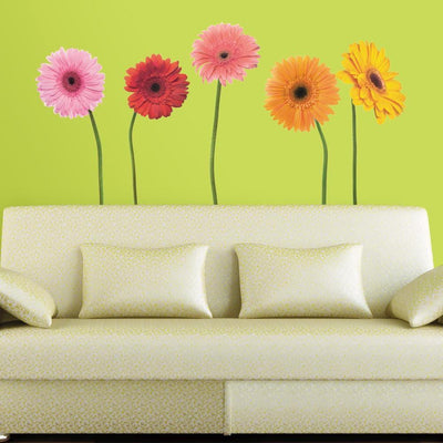 Gerber Daisies Giant Wall Decals roomset