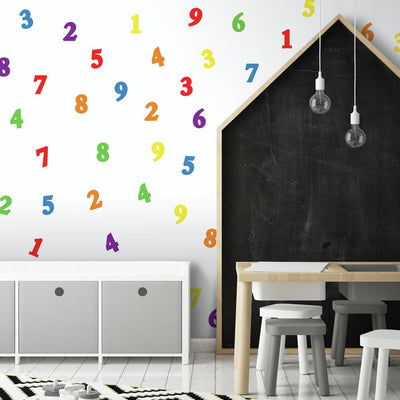 Colorful Numbers Wall Decals roomset 2