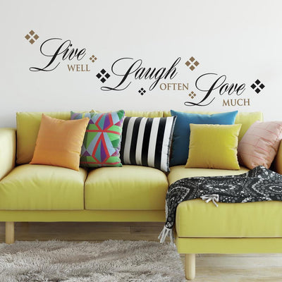 Live, Love, Laugh Quote Wall Decals roomset