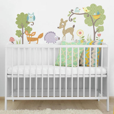 Woodland Animals Wall Decals roomset