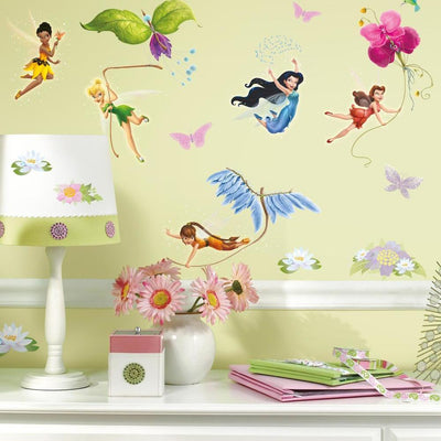 Disney Fairies Wall Decals with Glitter roomset