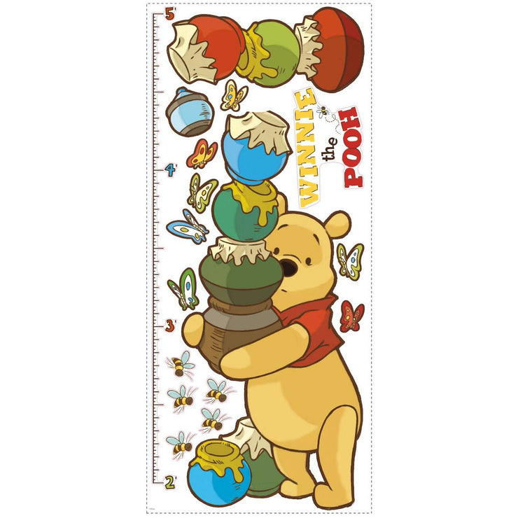 Pooh & Friends Growth Chart Wall Decals sheet
