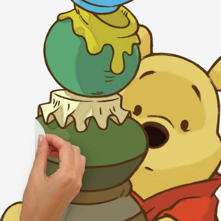 Pooh & Friends Growth Chart Wall Decals peel