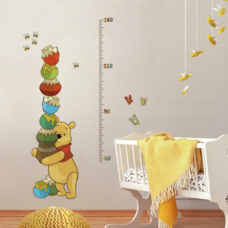 Pooh & Friends Growth Chart Wall Decals roomset
