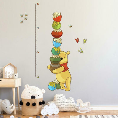 Pooh & Friends Growth Chart Wall Decals roomset 2