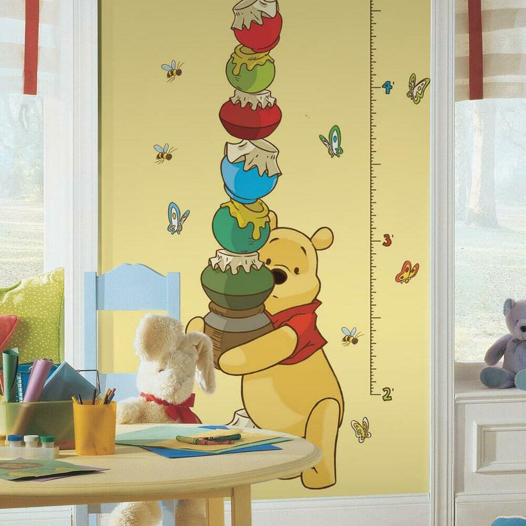 Pooh & Friends Growth Chart Wall Decals roomset 3