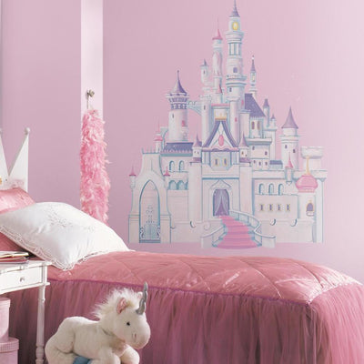 Disney Princess Castle Giant Wall Decal with Glitter roomset