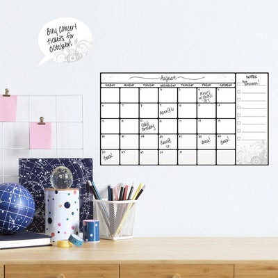 Dry Erase Calendar Wall Decals roomset