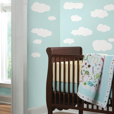 White Clouds Wall Decals roomset