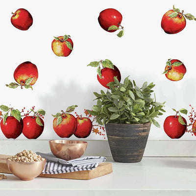 Country Apples Wall Decals roomset