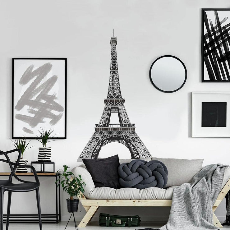 Eiffel Tower Giant Wall Decals roomset 3