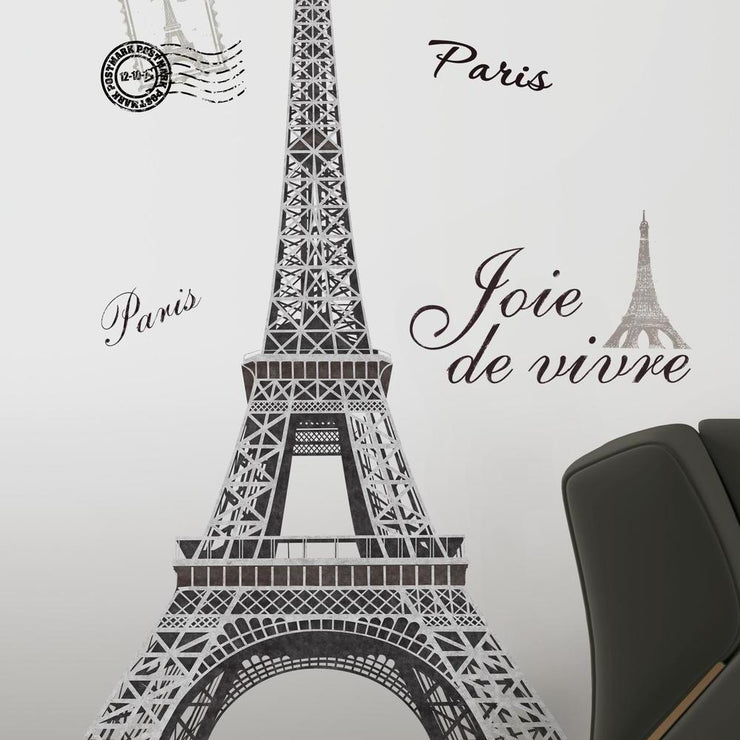 Eiffel Tower Giant Wall Decals roomset 2