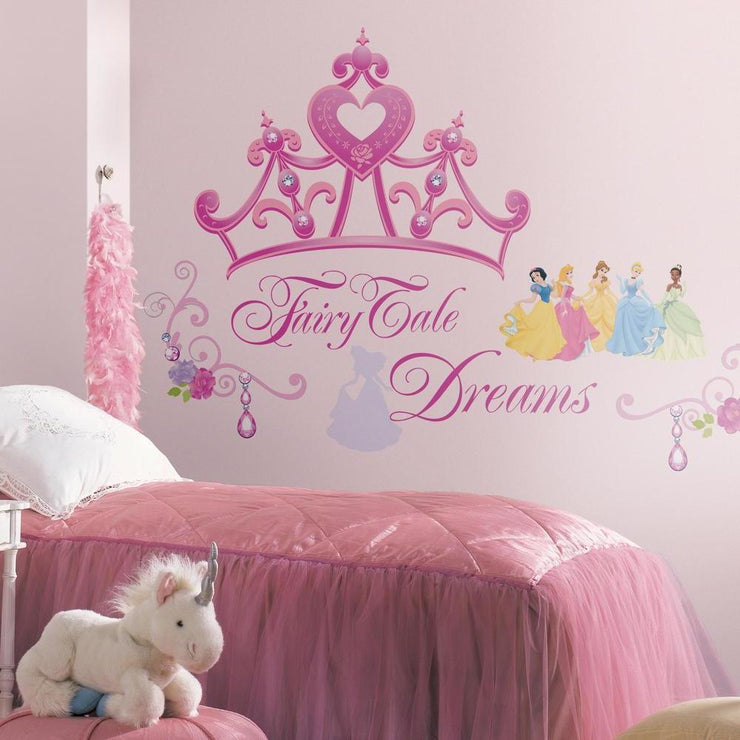 Disney Princess Crown Giant Wall Decals roomset