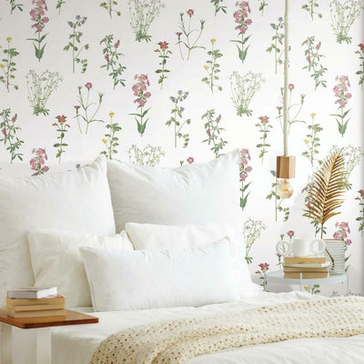 Botanical Peel and Stick Wallpaper green roomset