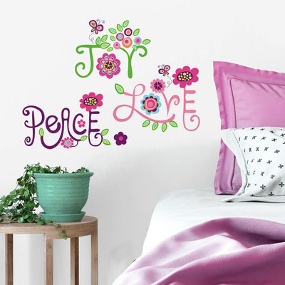 Love, Joy, Peace Wall Decals roomset
