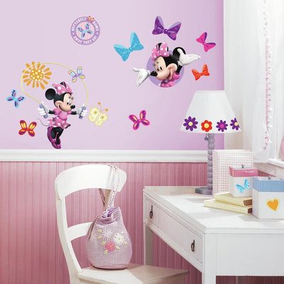 Minnie Mouse Bow-tique Wall Decals roomset