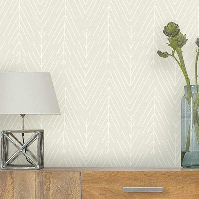 Twig Hygge Herringbone Peel and Stick Wallpaper beige