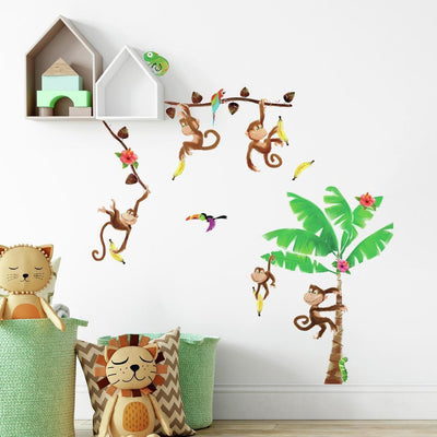 Monkey Business Wall Decals roomset
