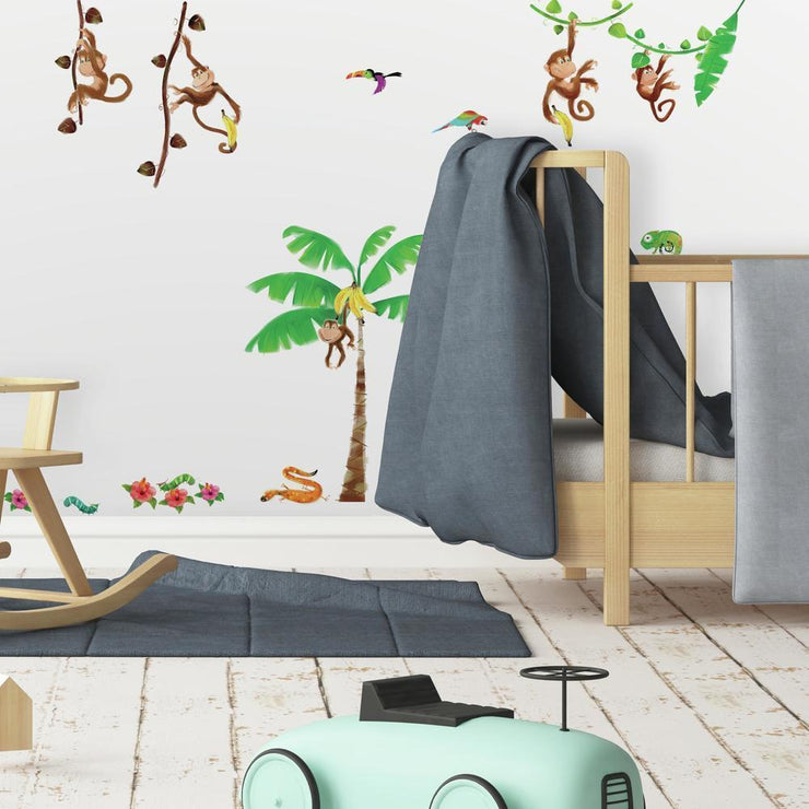 Monkey Business Wall Decals roomset 2