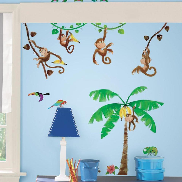 Monkey Business Wall Decals roomset 3