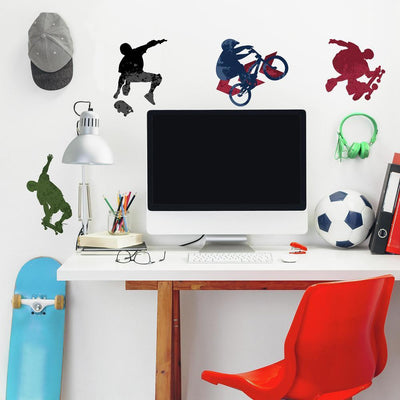 Extreme Sports Wall Decals roomset