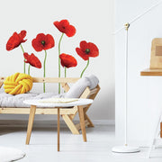 Poppies at Play Giant Wall Decals roomset 2