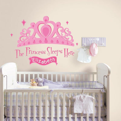 The Princess Sleeps Here Giant Wall Decal with Alphabet roomset